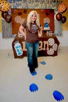 Being the Borquez's: Logan's First Birthday Party- Cookies and Milk Feat Cookie Monster