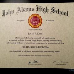 Looking for free Printable High School Diploma Template? ✅ These diploma templates are free to use & can be edited online. John Adams High School, Hall High School, Free High School Diploma, High Diploma, Divorce Papers, Ielts, Social Security, Passport