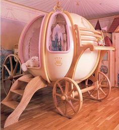 Beautiful baby girls bedroom design style ideas Beautiful Carriage Baby Girls Bedroom Design Ideas