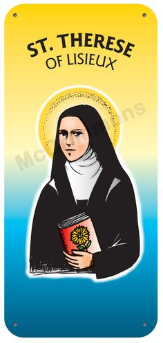 Therese of Lisieux - 1 October Display Board 1120 Poster On, Poster Prints, St Therese Of Lisieux, Banners, Saints, October, Boards, Display, Confirmation