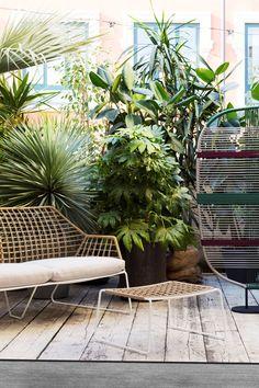 2 seater garden sofa with removable cover NEW YORK SOLEIL   Garden sofa by Saba Italia