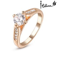 New Sale Real Italina Rings for women Genuine Austria Crystal 18K Gold Plated Fashion ring #RG90779