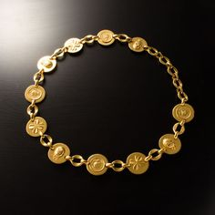 Vintage #Chanel gold tone #chain #belt. Available at lxrco.com for $599
