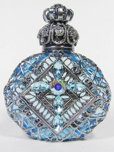 Czech Handmade Jeweled Filigree Perfume/Oil Bottles