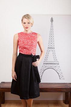 Kleid mit Wickeloptik von Bergluft auf DaWanda.com Etsy, Formal Dresses, Skirts, Fashion, Dresses For Women, Moda, Formal Gowns, La Mode, Black Tie Dresses