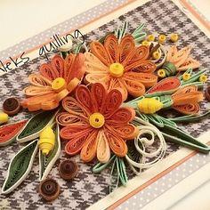 "Polubienia: 117, komentarze: 6 – Александрина Димитрова (@aleksandrinadimitro) na Instagramie: ""#quillingflowers #quillingcard #handmade#quillingart#paperartist #paperflowers"""