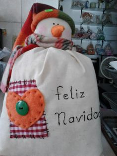 MANITAS TRABAJANDO: MI TIENDITA NAVIDEÑA 1 COSTAL/MUÑECO SNOW    AGOTADO