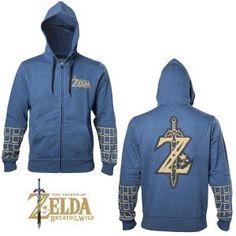 Sweat à Capuche Zelda Breath of the Wild Mode Geek, Zelda Breath, Breath Of The Wild, Athletic, Hoodies, Sweaters, Jackets, Fashion, Jacket