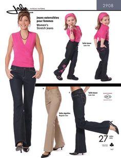 Jalie - 2908 Stretch jeans/spijkerbroek | Naaipatronen.nl | zelfmaakmode patroon online