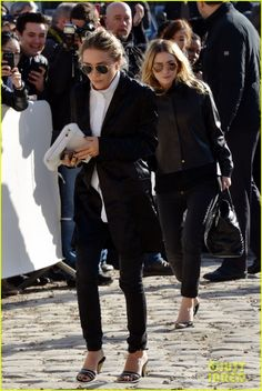 Mary-Kate Olsen Flashes Huge Engagement Ring at Louis Vuitton Show with Sister Ashley | mary kate olsen flashes huge engagement ring louis v...