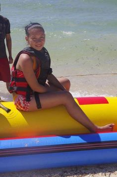 in memory of my first banana boat ride.