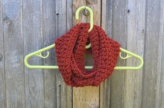 Brick Orange Red Cowl Scarf Kids Infinity Cowl by FarahsAttic, $12.00