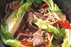 beef and pak choi stirfry #paleo #healthy