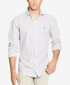 POLO RALPH LAUREN Polo Ralph Lauren Men's Tattersall Estate Shirt. #poloralphlauren #cloth #down shirts