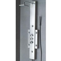 Supra Thermostatic Stainless Steel Shower Panel with Hand Shower and Six Body Sprays