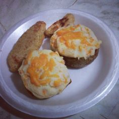 Twice Baked Potatoes and Chicken Fingers
