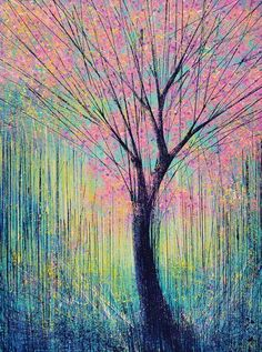 ARTFINDER: Blossom In Evening Light by Marc Todd - Created on, and shipped on a high quality, pre-stretched canvas on a wooden frame - with crisp white painted sides.  Ready to hang unframed if preferred.
