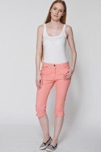 Pink Cropped Jeans