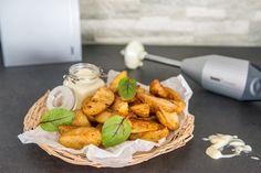 Maalaislohkoperunat ja wasabimajoneesi Dairy, Cheese, Baking, Food, Kitchen, Cooking, Bakken, Essen, Kitchens