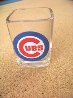 Chicago Cubs shotglass shot glass square