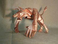 Minotaur. Designed by Satoshi Kamiya, folded by Imperfekshun from 64×64 cm tissue foil