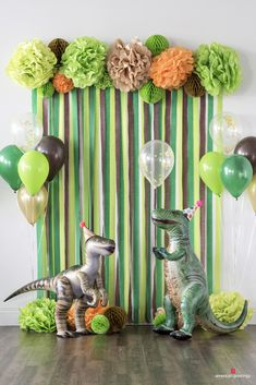 Dinosaur Birthday Party Decorations Diy Dinosaur Party Decorations, 1st Birthday Decorations Boy, Diy Party Backdrop, Diy Birthday Backdrop, Boys Party Ideas, 1st Birthday Party Ideas For Boys, Party Decoration Ideas, 3rd Birthday Pictures, Pastel Party Decorations