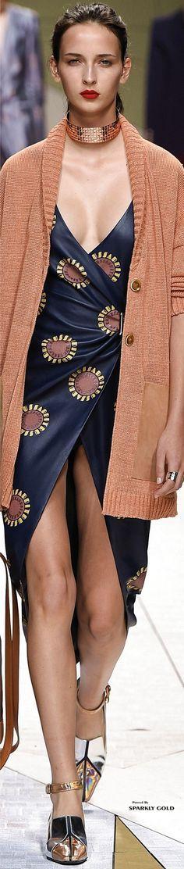 @roressclothes closet ideas #women fashion blue dress Trussardi Spring 2017