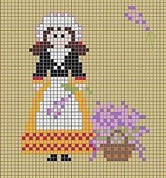 cross stitch lavender (lavender girl chart)