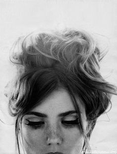 sexy messy beehive hair with cat eye - Google Search