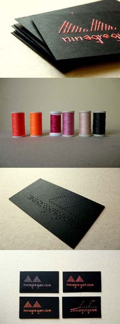 embroidered business cards. this is so cool.