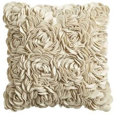 Felt Flowers Pillow - Sand.  This would go great w/our new bedding set! May have to get a few!