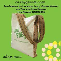 Eco-Friendly Un Laminated Jute / Cotton Messenger Tote with Long Handles Item Number: BCG117055  #cottonbag #grocerybag #weddingfavorbag #rusticwedding #jutebags #totebags #jutebags #naturalbags #imprintedbags #welcomebags #personalizedbags #weddingbags #carrygreen #carrybags #holidaygiftbag #personalizedgiftbags #holidaygiftideas #holidaysgifts #giftbags #grocerybag #burlapbag #burlapholidaybag #ecofriendlybags #reusablegiftbags #carrygreenbags #greenbags