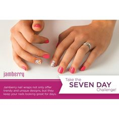 Take the 7 Day Jamberry Challenge! Ask me how to get a FREE sample! jessicat.jamberrynails.net