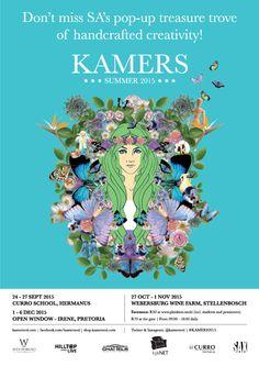 Don't miss KAMERS Summer 2015 in Hermanus, Sept at Curro School, Stellenbosch 27 Oct - 1 Nov at Webersburg Wine Farm and at Irene, Pretoria Dec at Open Window.