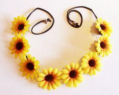 SunFlower Crown/Headband/Coachella Inspired/Festivals/Gift for Her $12