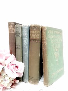 Decorative Books ~ Ornate Books~ Hemlock Mint and Chocolate ~ by beachbabyblues, $42.00