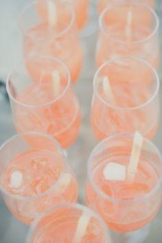 peach drinks for a beautiful spring wedding