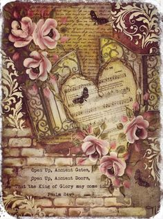 Mixed media Inspirational art by Tracey White. Love the verse, may the gates open in your life..........