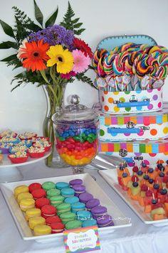 Colourful Rainbow Party by Taste of Luxury, via Flickr  wonderful display!