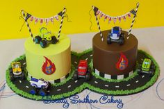 Blaze and the Monster Machines Cake; Twin Cakes; Blaze Cakes