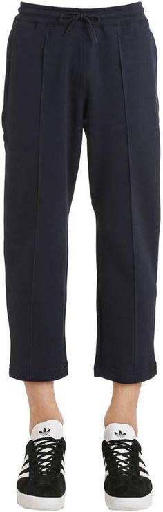 ADIDAS ORIGINALS, Cropped sweatpants with pintucks, Navy, Luisaviaroma - Elastic waistband with drawstring. Mens Athletic Pants, Pin Tucks, Adidas Originals, Sweatpants, Navy, Fashion, Hale Navy, Moda, Fashion Styles