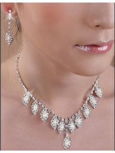 Concise Alloy with Pearl Wedding Jewelry Set(Including Necklace and Earrings)