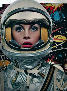 Jean Shrimpton goes space age for Harper's Bazaar, United Kingdom, 1965, photograph by Richard Avedon.