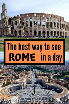 Rome Italy:The best way to see Rome in a day Itinerary suggestion. See the best of Rome in a day with this Rome 1 day itinerary suggestion. Dose up on cappuccino and dive right in as we show you the best way to see Rome in a day. Italy Travel Tips, Rome Travel, Travel Destinations, Usa Travel, Budget Travel, European Destination, European Travel, European Vacation, Eurotrip