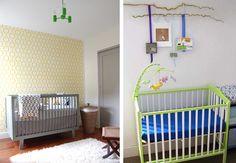 Um berço colorido pode deixar o quartinho do bebê moderno, descolado, original... E muito charmoso!