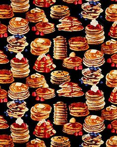imperialgoogie: fuckyeahvintage-retro: Pancakes Fabric It's twenty to eight in the evening and it's time for breakfast. Food Backgrounds, Cute Wallpaper Backgrounds, Cute Wallpapers, Iphone Wallpapers, Sweet Recipes, Real Food Recipes, Food Wallpaper, Cartoon Wallpaper, Ice Cream Candy