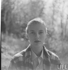 """photo by Yale Joel 1950 / Colby College Mountain Day ... not so sure if this is """"preppy"""" per se, but don't really have a board where this fits but I love the photo and her face."""