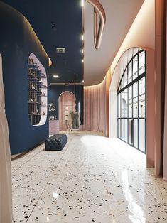 Terrazzo heaven seasons in colour uk award winning interiors & lifestyl Contemporary Interior Design, Cafe Design, Luxury Interior Design, Store Design, Modern Contemporary, Design Salon, Design Studio, House Design, Boutique Design
