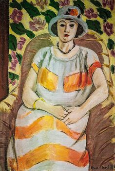 Young Woman in Pink, 1923, by Henri Matisse (French, 1869 -1954)