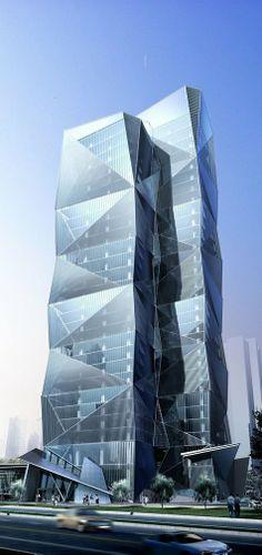 Century City Crystal Tower, Chengdu, China :: 34 floors, height 140m